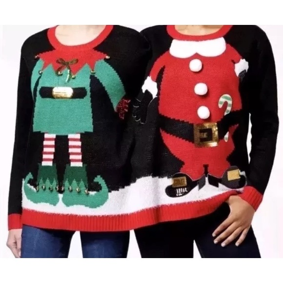 2 Person Christmas Sweater.2 Person Ugly Christmas Sweater Nwt